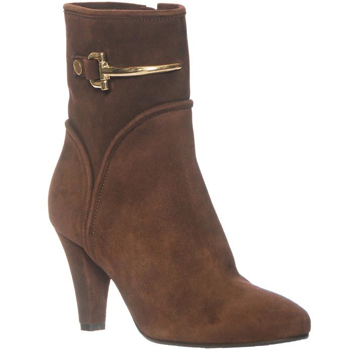 Демисезонные замшевые ботинки Giorgio Fabiani коричневого цвета
