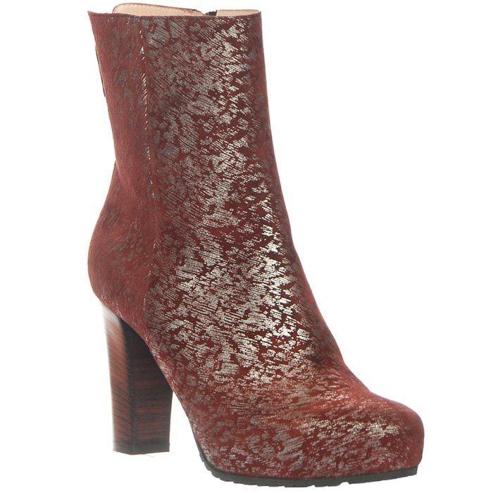 Демисезонные замшевые ботинки Giorgio Fabiani бордового цвета