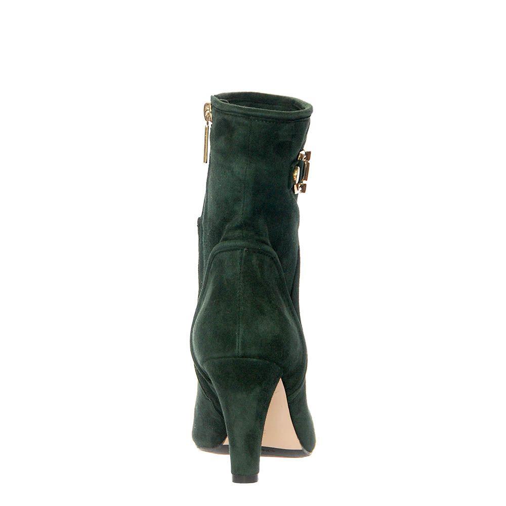 Демисезонные замшевые ботинки Giorgio Fabiani зеленого цвета