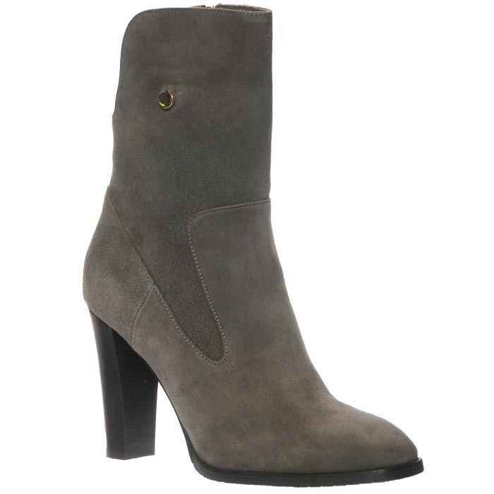 Демисезонные замшевые ботинки Giorgio Fabiani серого цвета на молнии