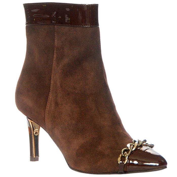 Демисезонные замшевые ботинки Giorgio Fabiani коричневого цвета на молнии