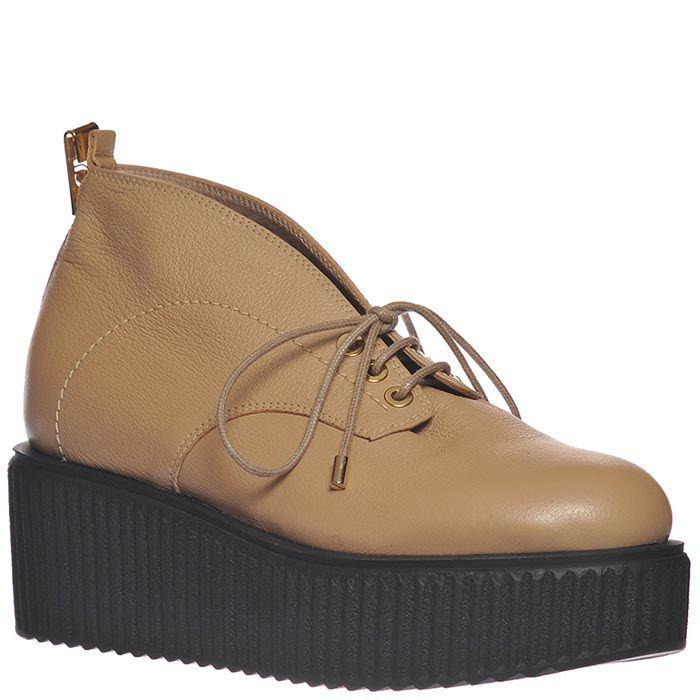 Ботинки Giorgio Fabiani из натуральной кожи бежевые на шнуровке
