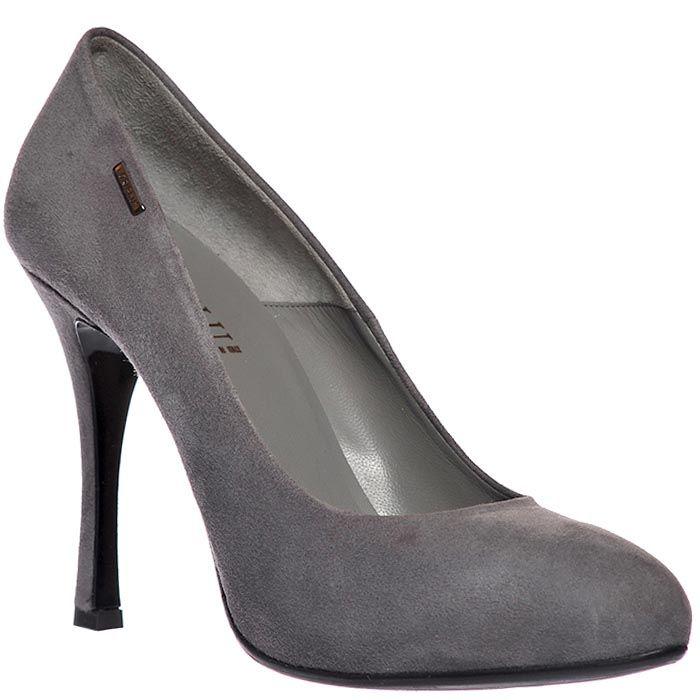 Замшевые туфли Loriblu серого цвета