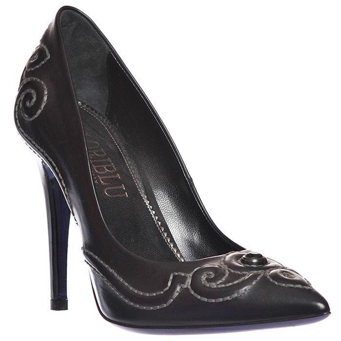 Туфли Loriblu из натуральной кожи черные