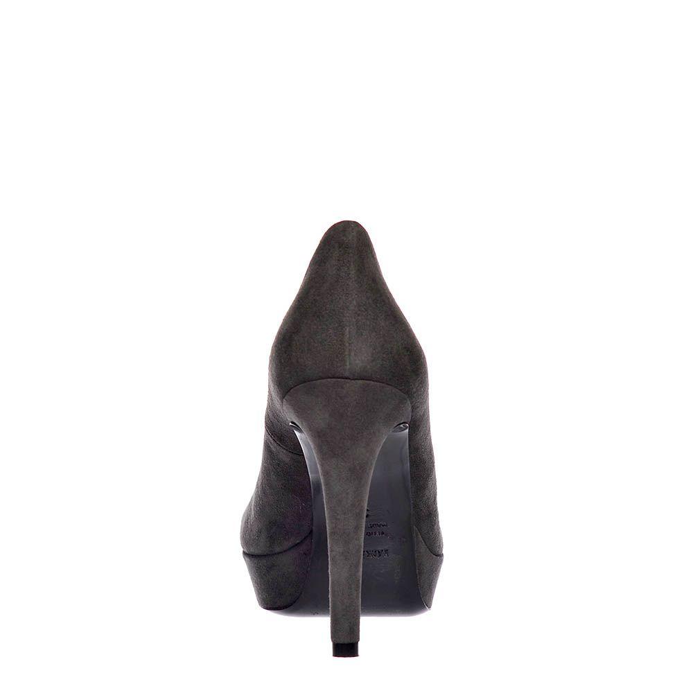 Замшевые туфли Loriblu серые