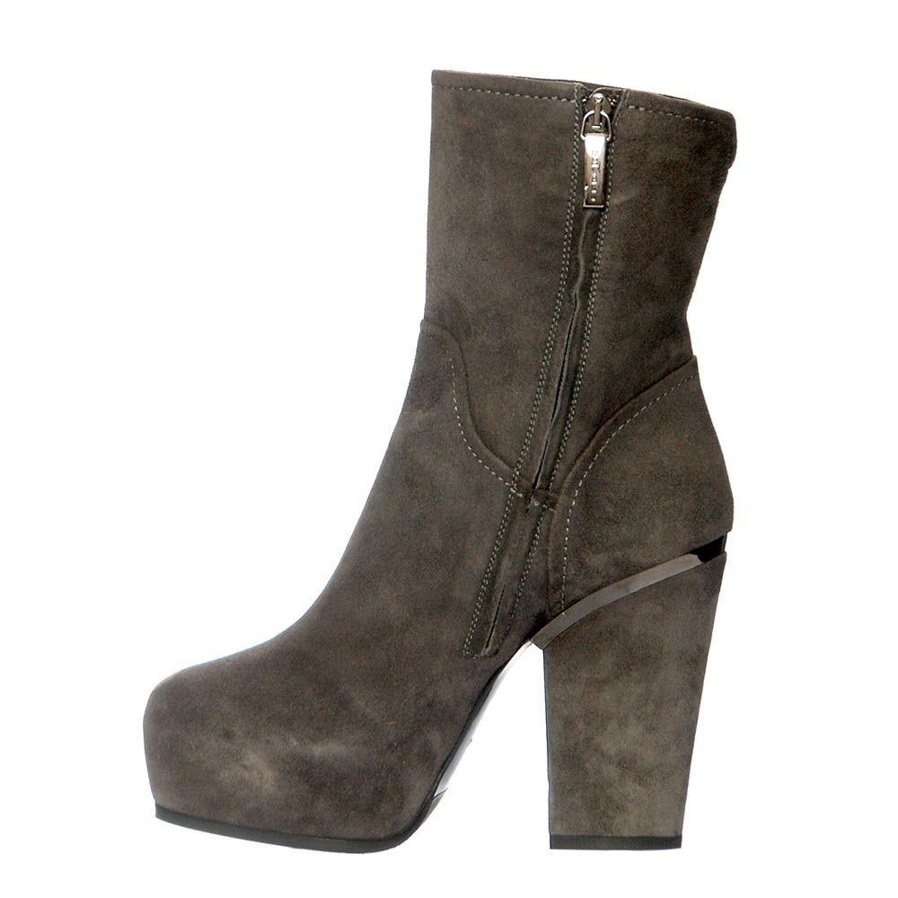 Замшевые ботинки Loriblu серого цвета
