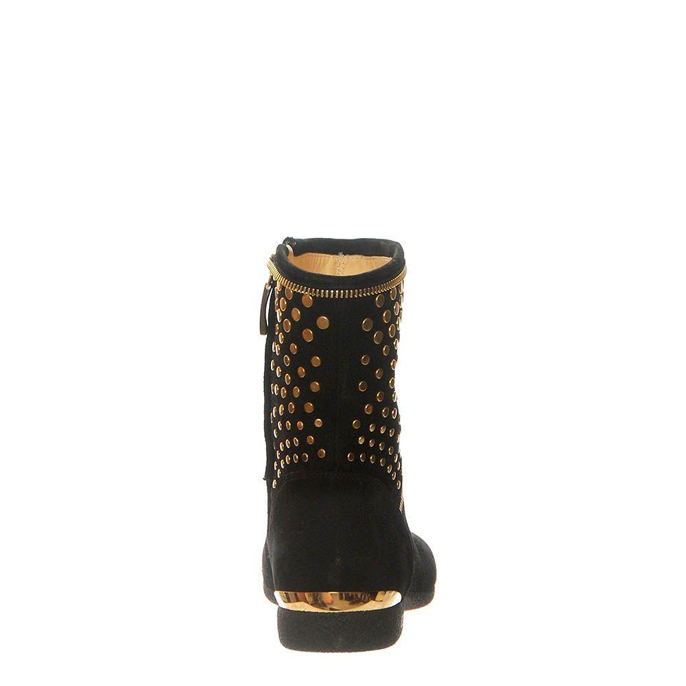 Замшевые ботинки Loriblu черного цвета на молнии