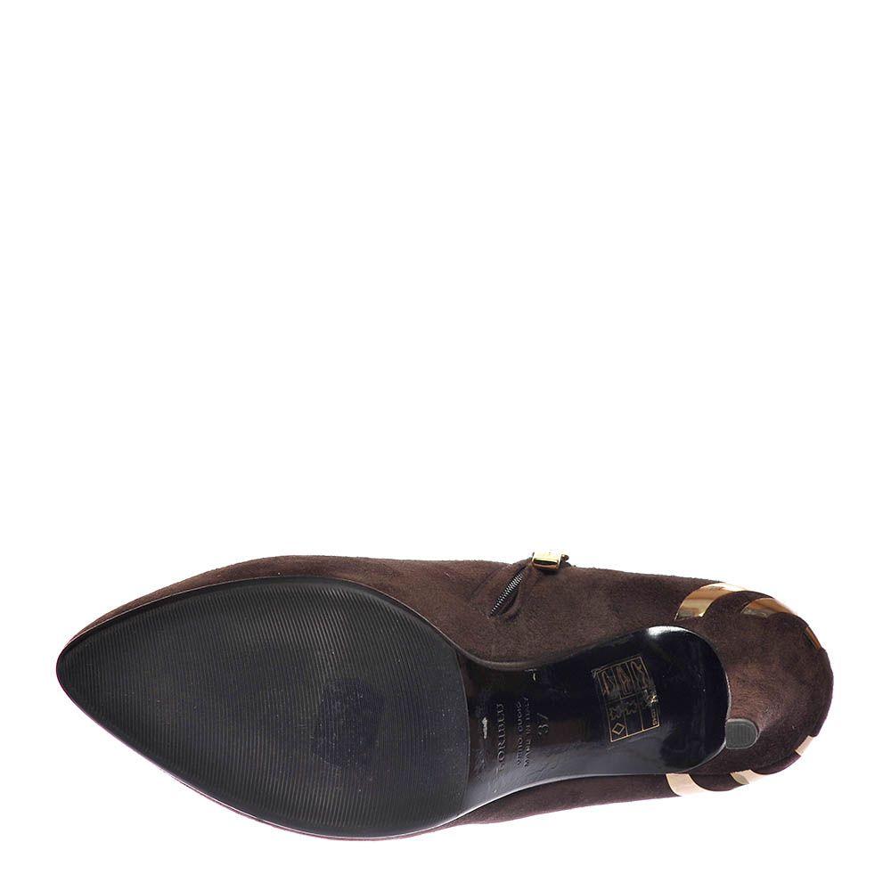 Замшевые ботильоны Loriblu коричневого цвета