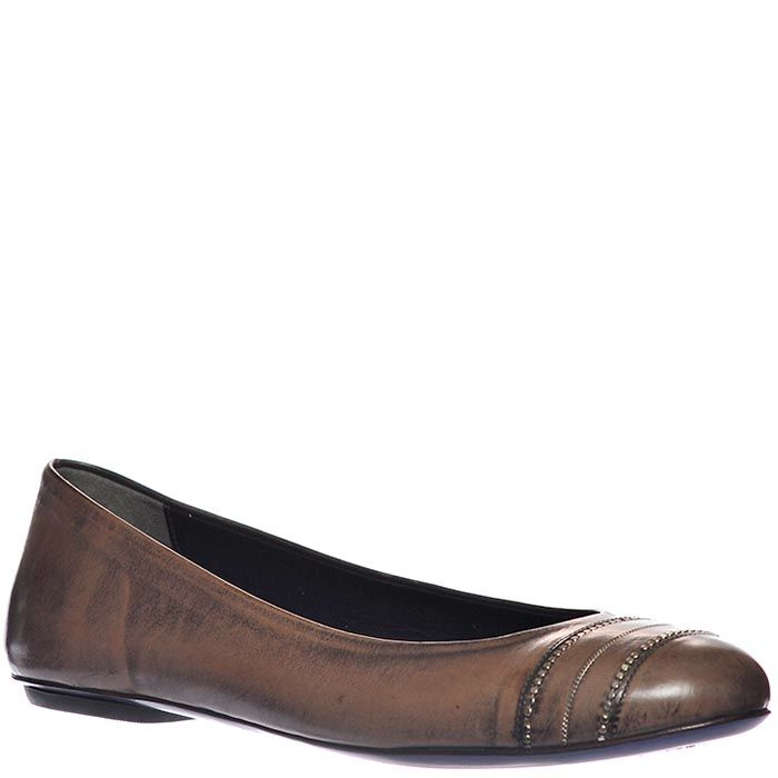 Туфли Loriblu из натуральной мягкой кожи коричневого цвета