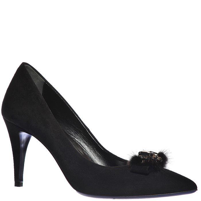 Замшевые туфли Loriblu черного цвета