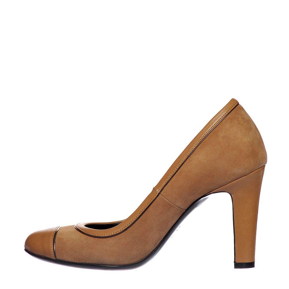 Замшевые туфли Loriblu бежевого цвета