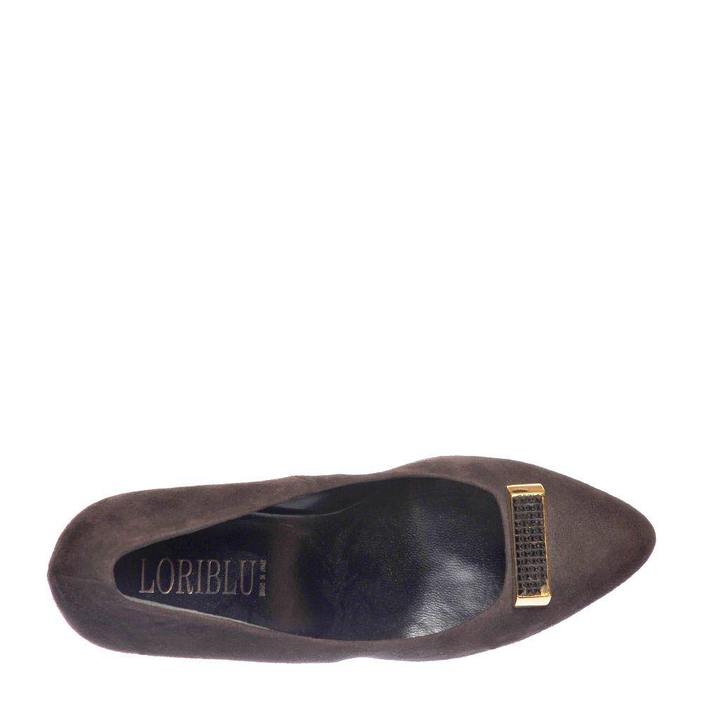 Туфли замшевые Loriblu коричневого цвета