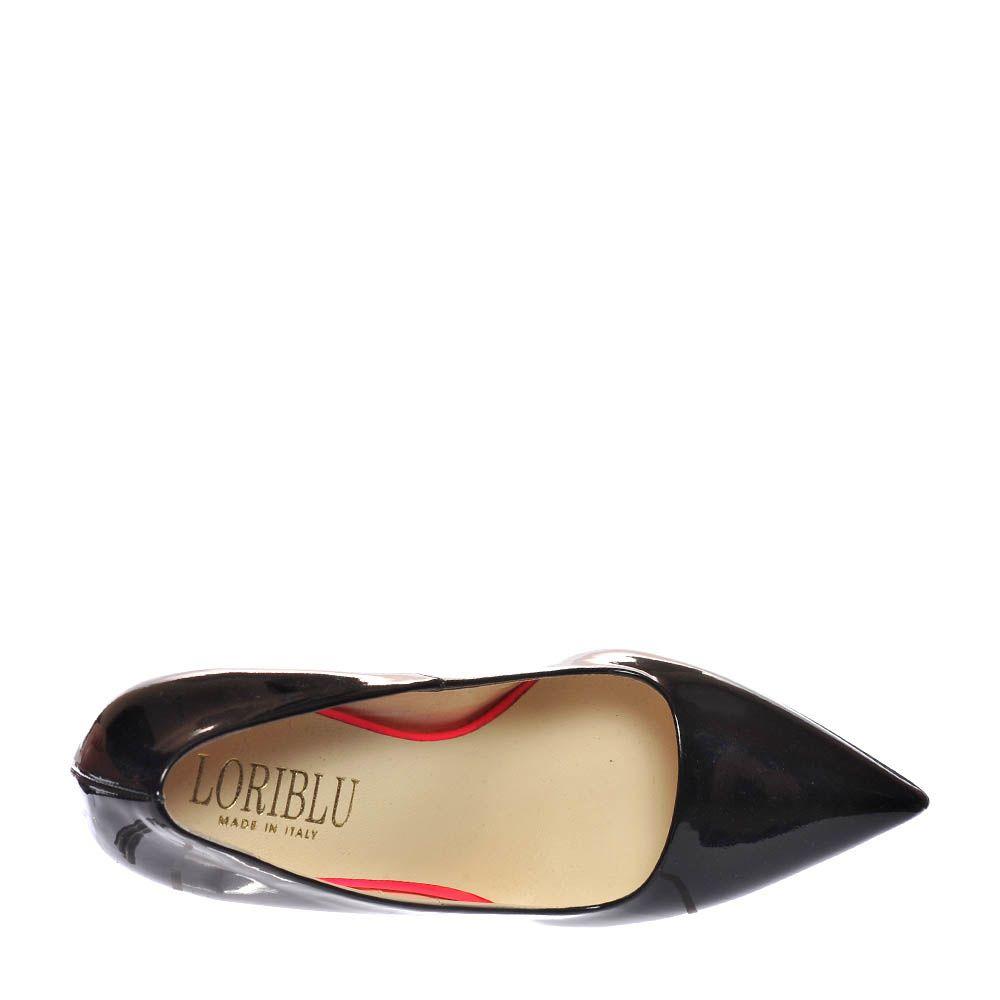 Туфли Loriblu из кожи лаковые черного цвета