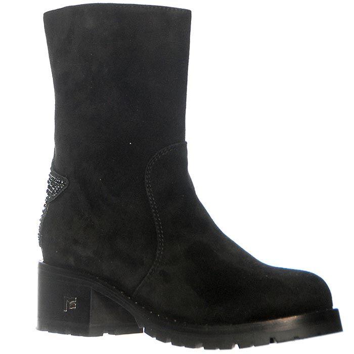Замшевые ботинки Marino Fabiani черного цвета на молнии
