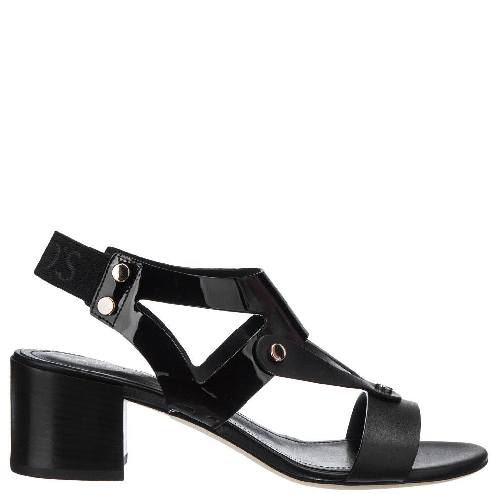 Черные босоножки Tod's на среднем каблуке