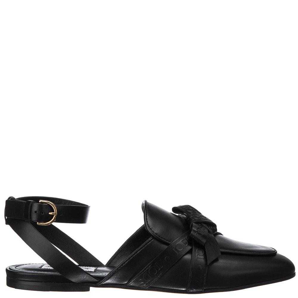 Черные сандалии Tod's с декором-бантом