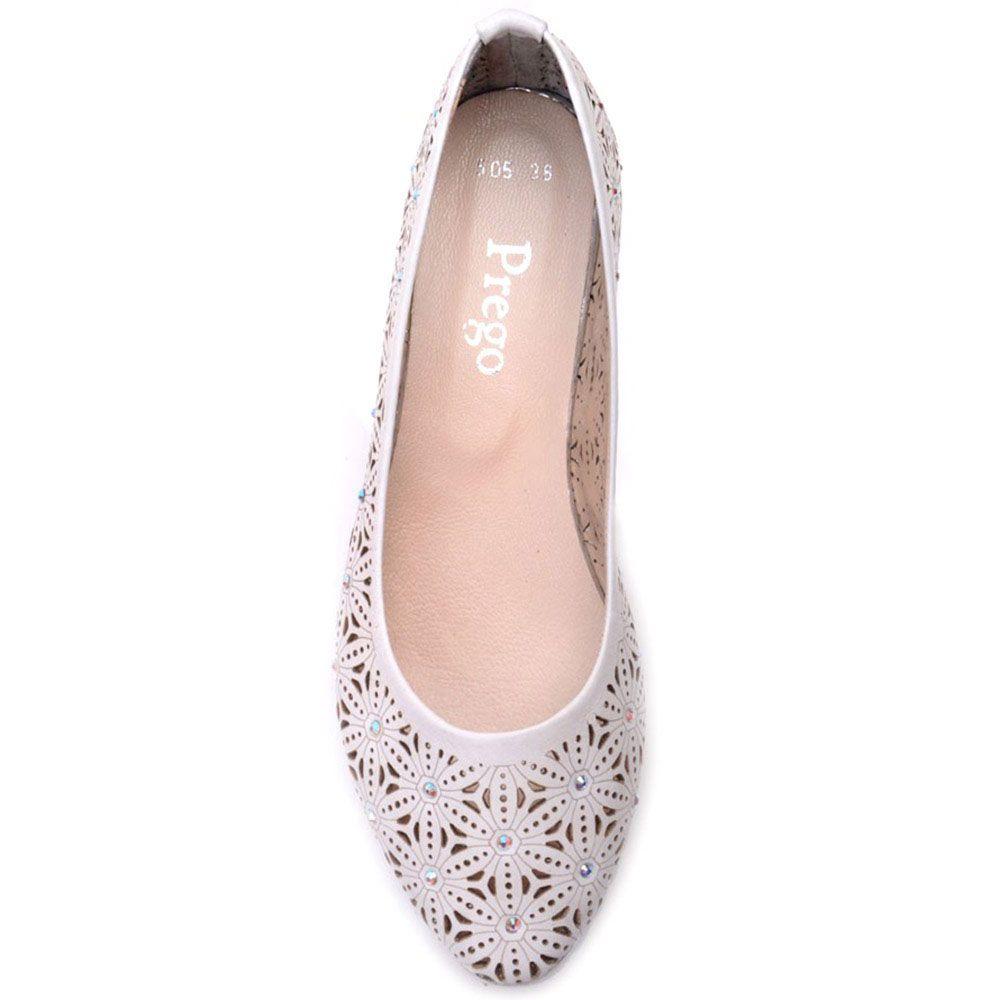 Туфли-лодочки Prego из натуральной кожи белого цвета