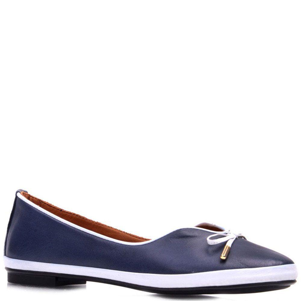 Туфли Prego из кожи синего цвета