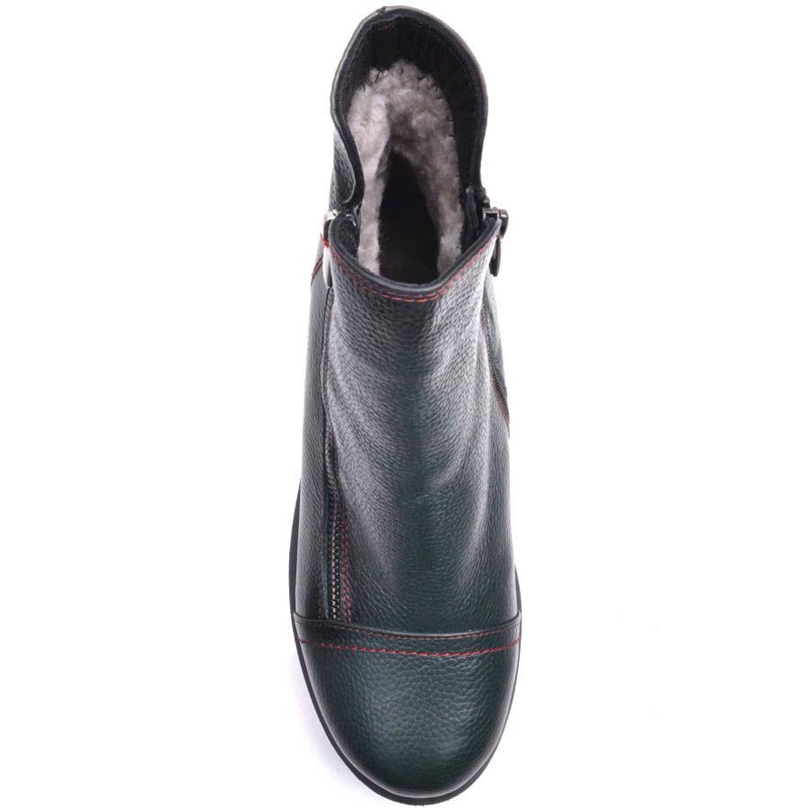 Ботинки Prego зимние бледно-зеленого цвета с красными строчками