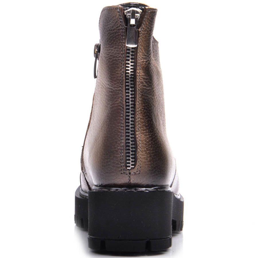 Ботинки Prego зимние бронзового оттенка на шнуровке