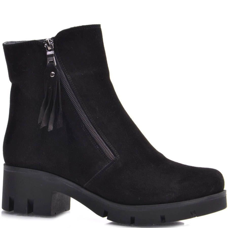 Ботинки Guero зимние замшевые с кисточкой на собачке молнии