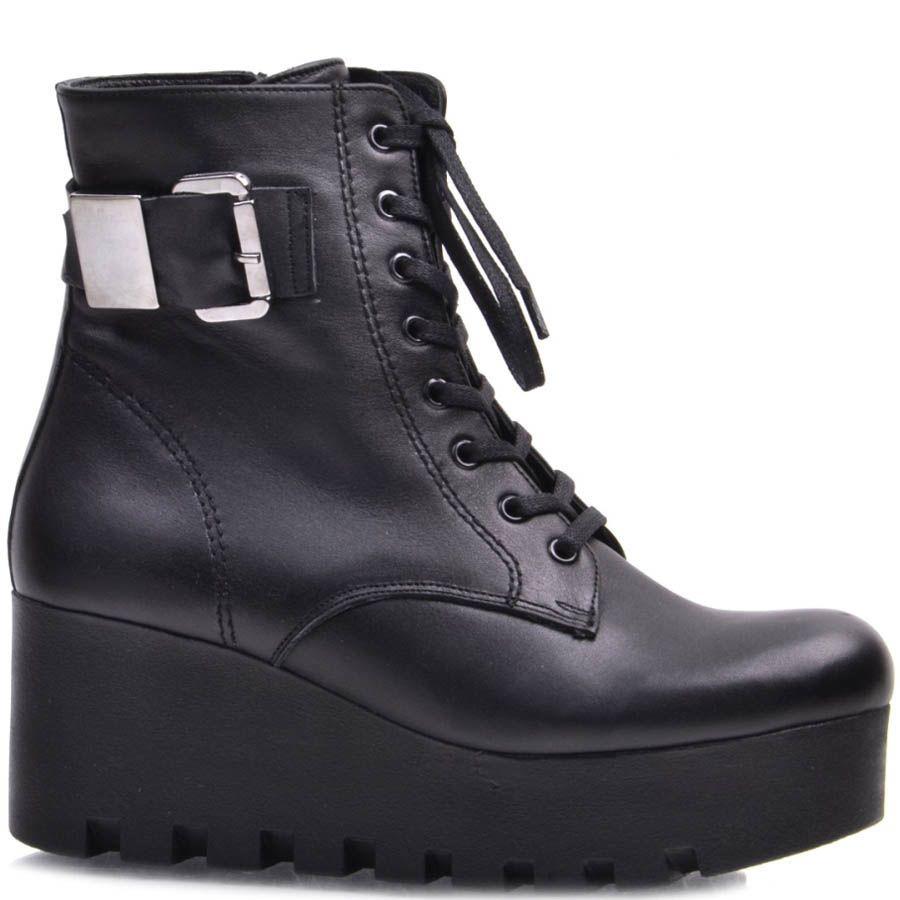 Ботинки Guero зимние со шнуровкой и декоративным ремнем