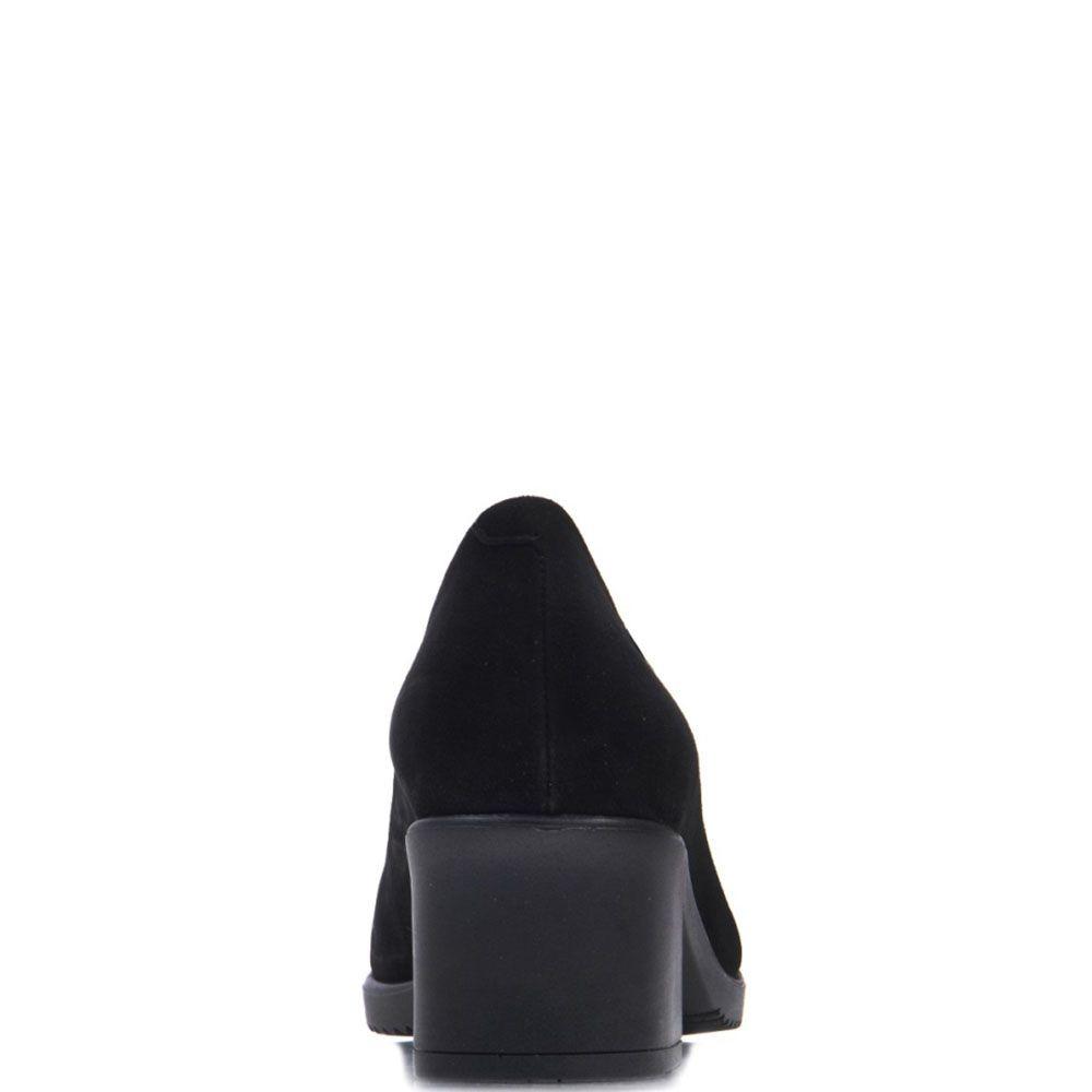 Замшевые лодочки Prego черного цвета на каблуке