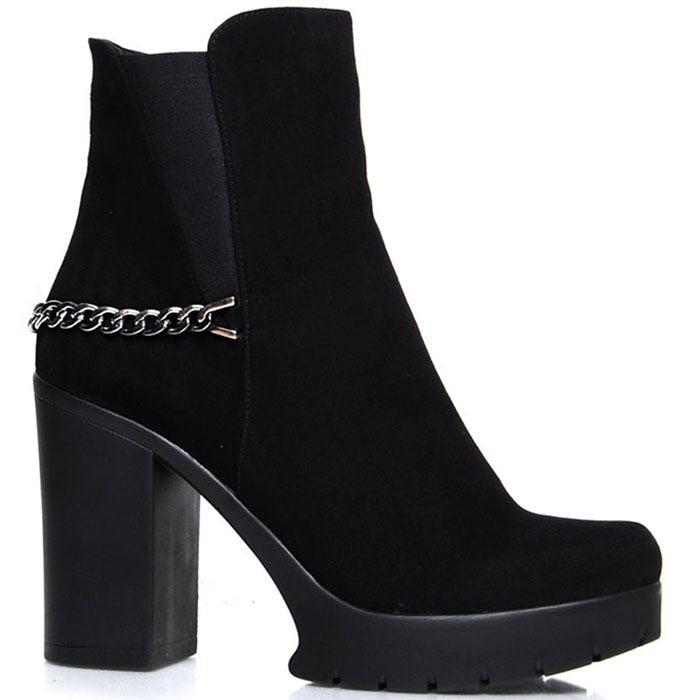 Ботинки Prego черного цвета серебристым декором и вставками-резинками