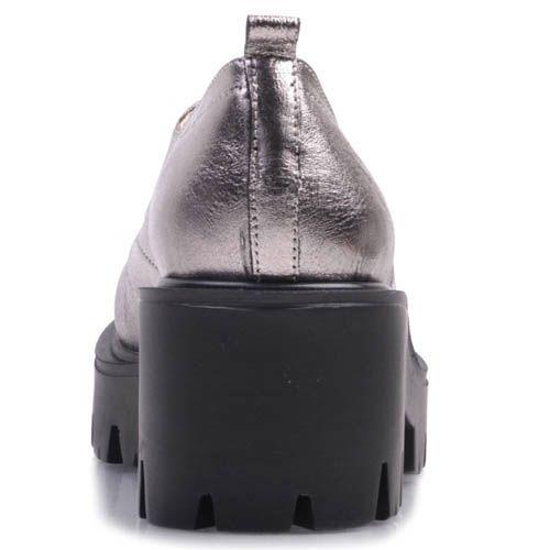 Ботинки Prego с металлическим блеском на тостом каблуке и подошве
