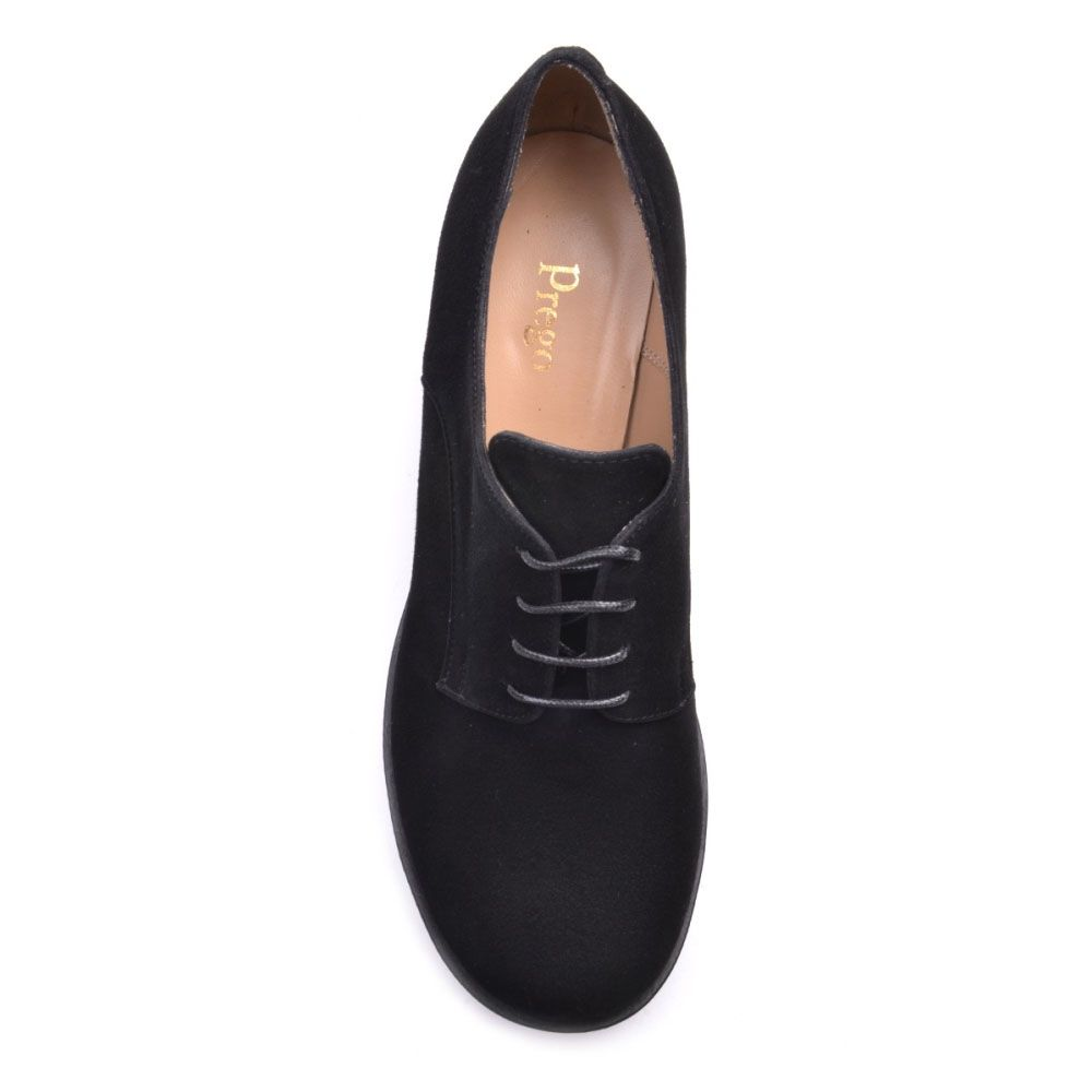 Ботильоны Prego из натуральной замши черного цвета на среднем каблуке