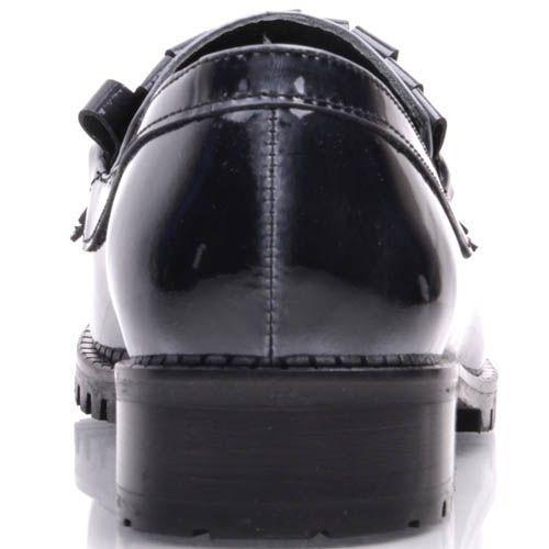 Лоферы Prego темно-серого цвета с металлической цепочкой
