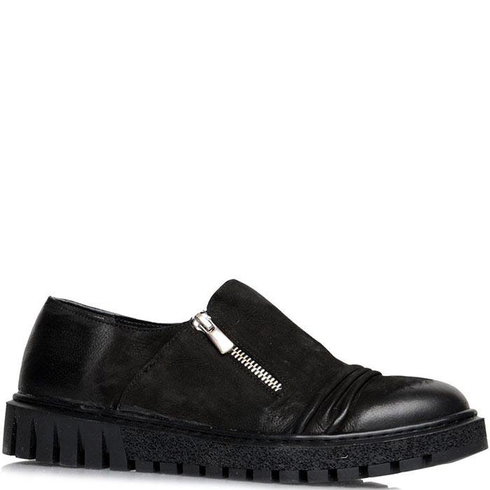 Туфли Prego черного цвета на толстой подошве