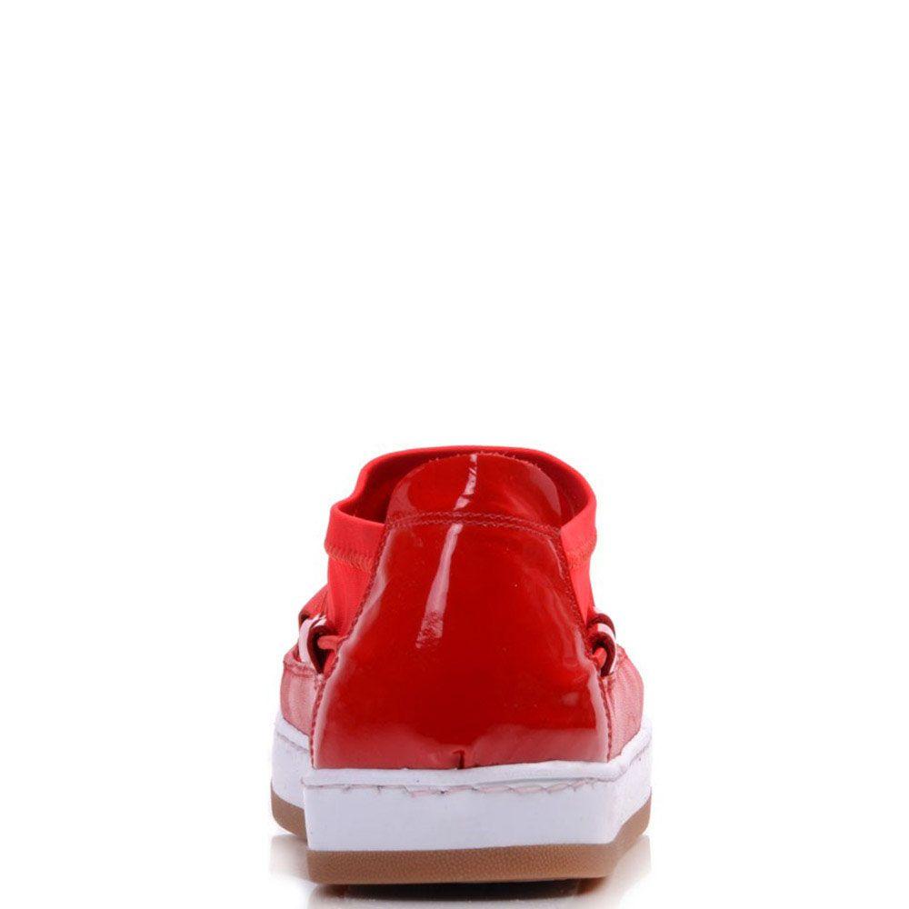 Кеды Prego из натуральной кожи в сочетании с текстилем красного цвета