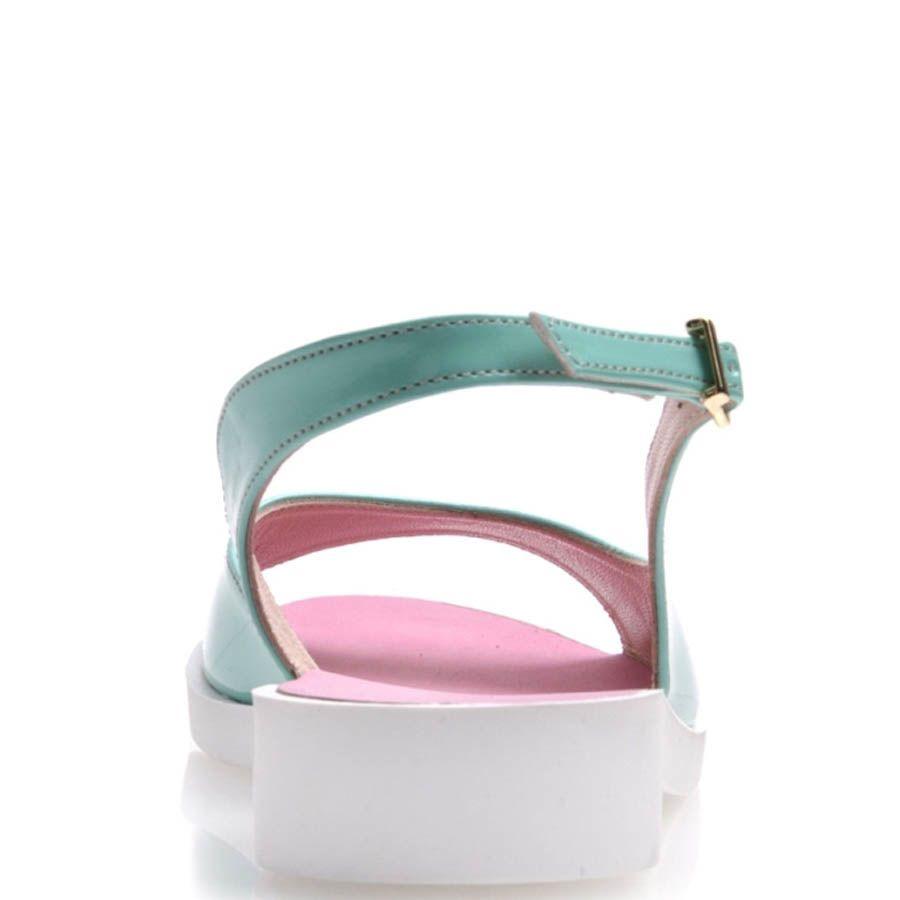 Сандалии Prego лаковые голубые и розовые внутри
