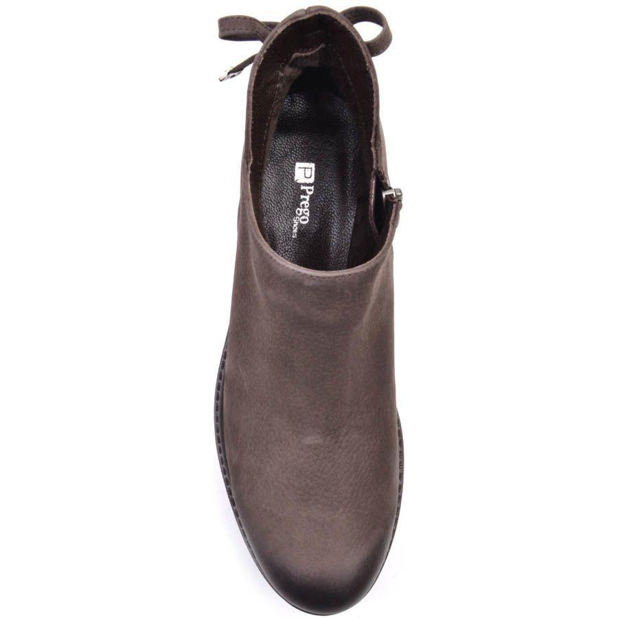 Ботинки Prego из нубука коричневого цвета с завязками