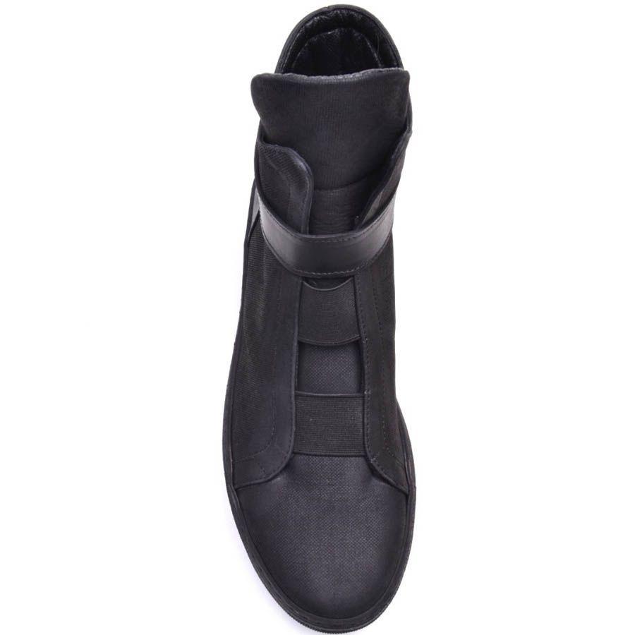 Ботинки Prego черного цвета с резиновыми перемычками и кожаным ремешком