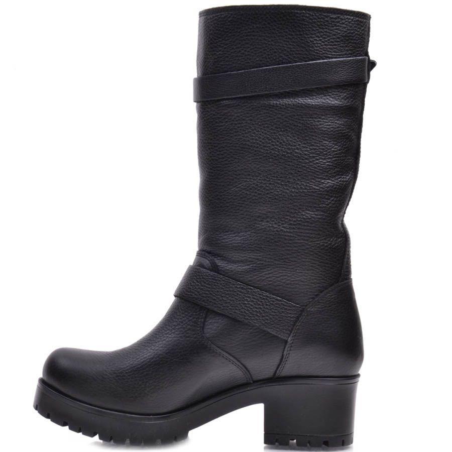 Ботинки Prego зимние кожаные с молнией и двумя пряжками