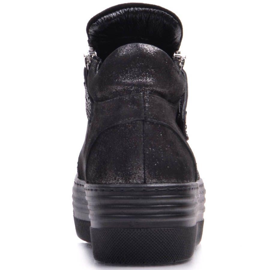 Ботинки Prego из замши и с декором из мелких черных страз