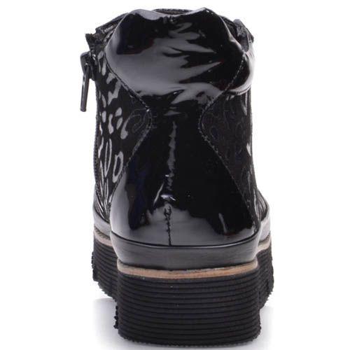Ботинки Prego черного цвета с леопардовыми пятнами