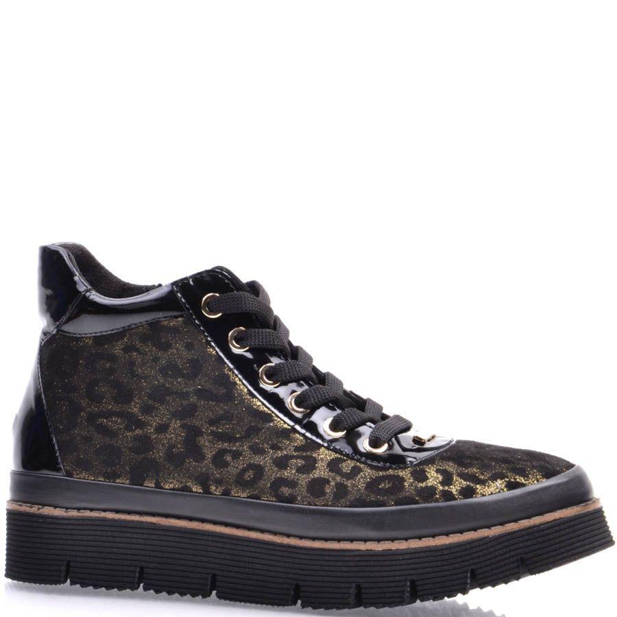 Ботинки Prego золотистого цвета с черными леопардовыми пятнами
