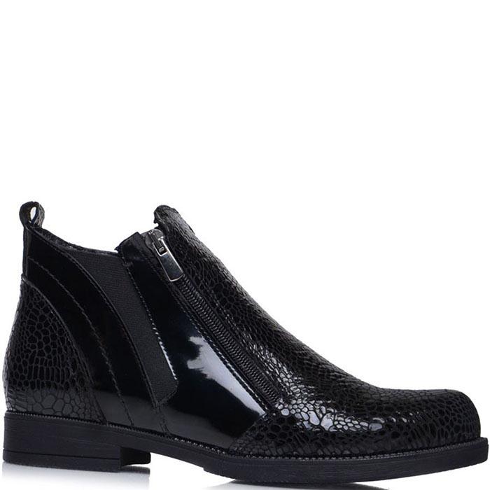 Ботинки Prego из лаковой кожи с фактурой кроко