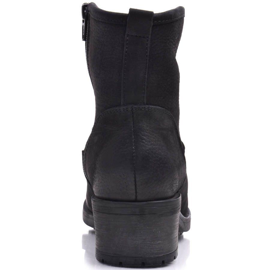 Ботинки Prego зимние черного цвета на меху с оригинальным съемным ремешком