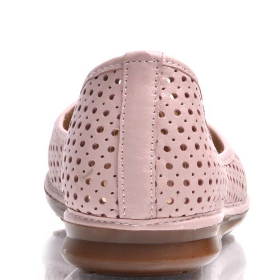 Балетки Prego розовые с круглой перфорацией по всей длине