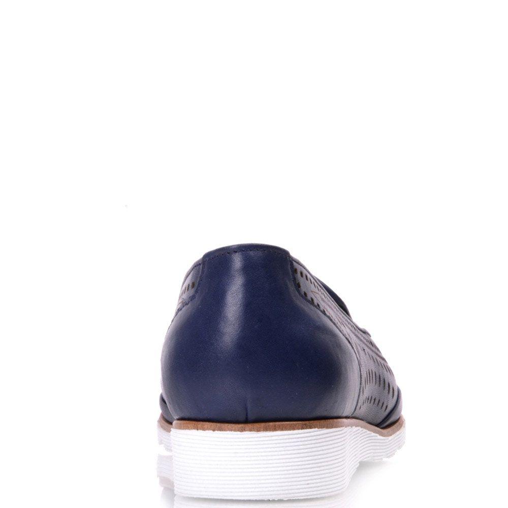 Туфли Prego из натуральной кожи синего цвета