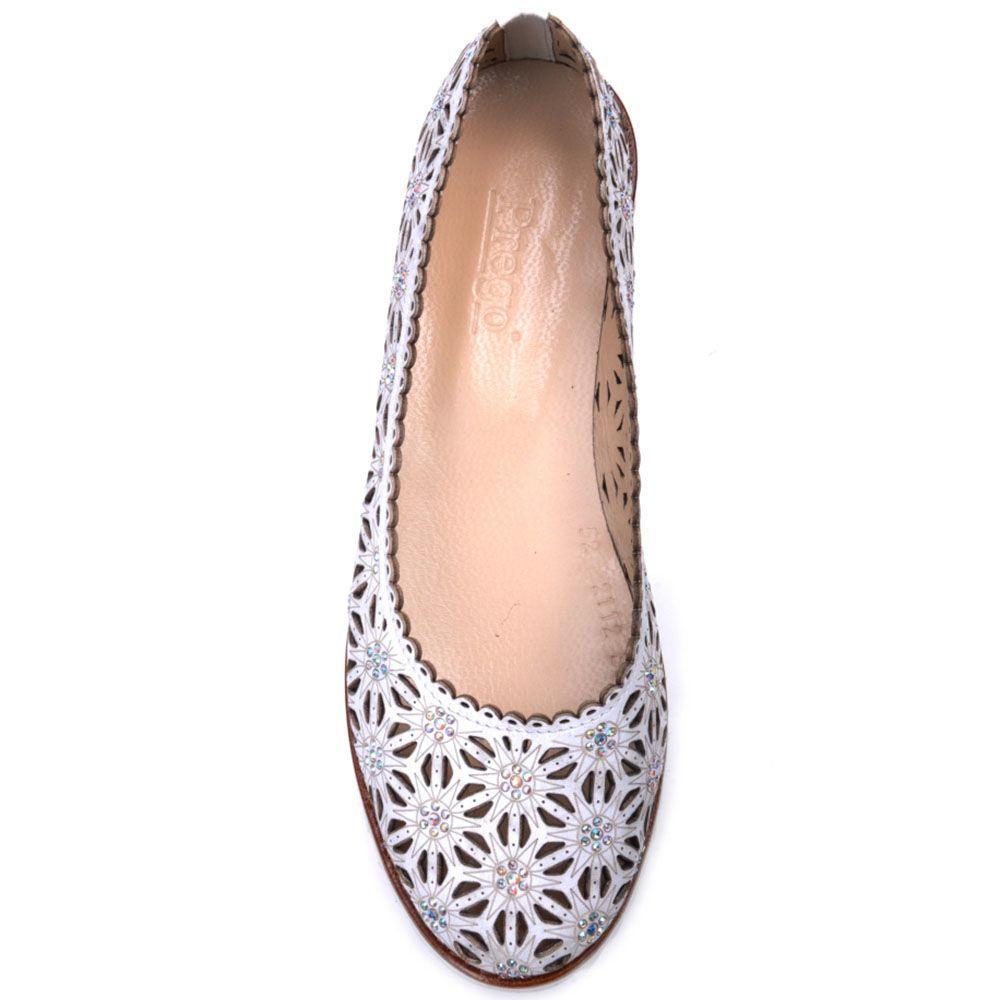 Туфли Prego из натуральной кожи серого цвета с перфорацией