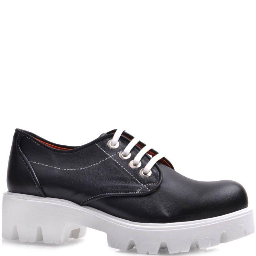 Ботинки Prego черного цвета на широкой подошве