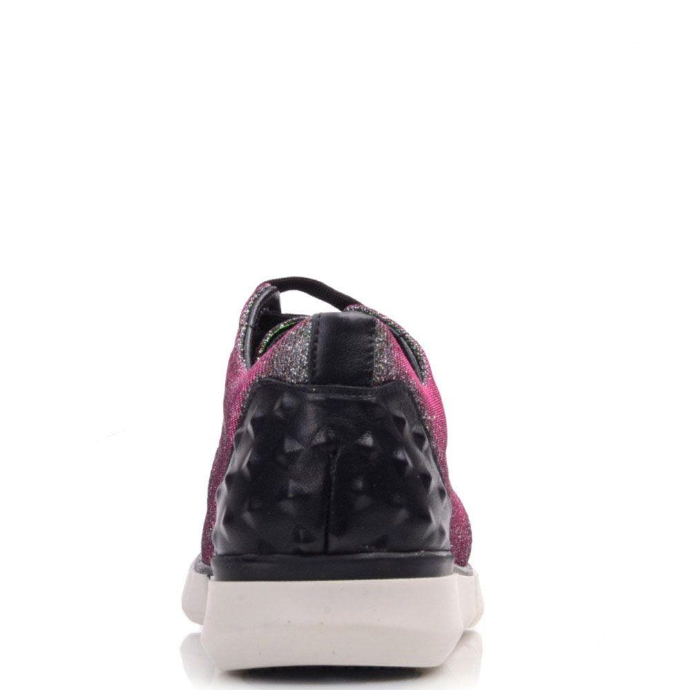 Блестящие кроссовки Prego на белой подошве