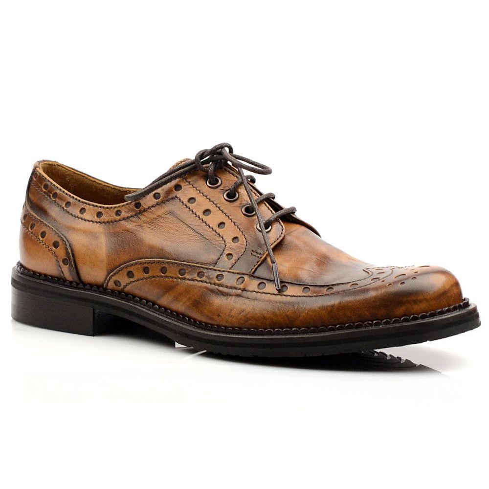 Женские кожаные туфли с перфорацией Tosca Blu коричневые