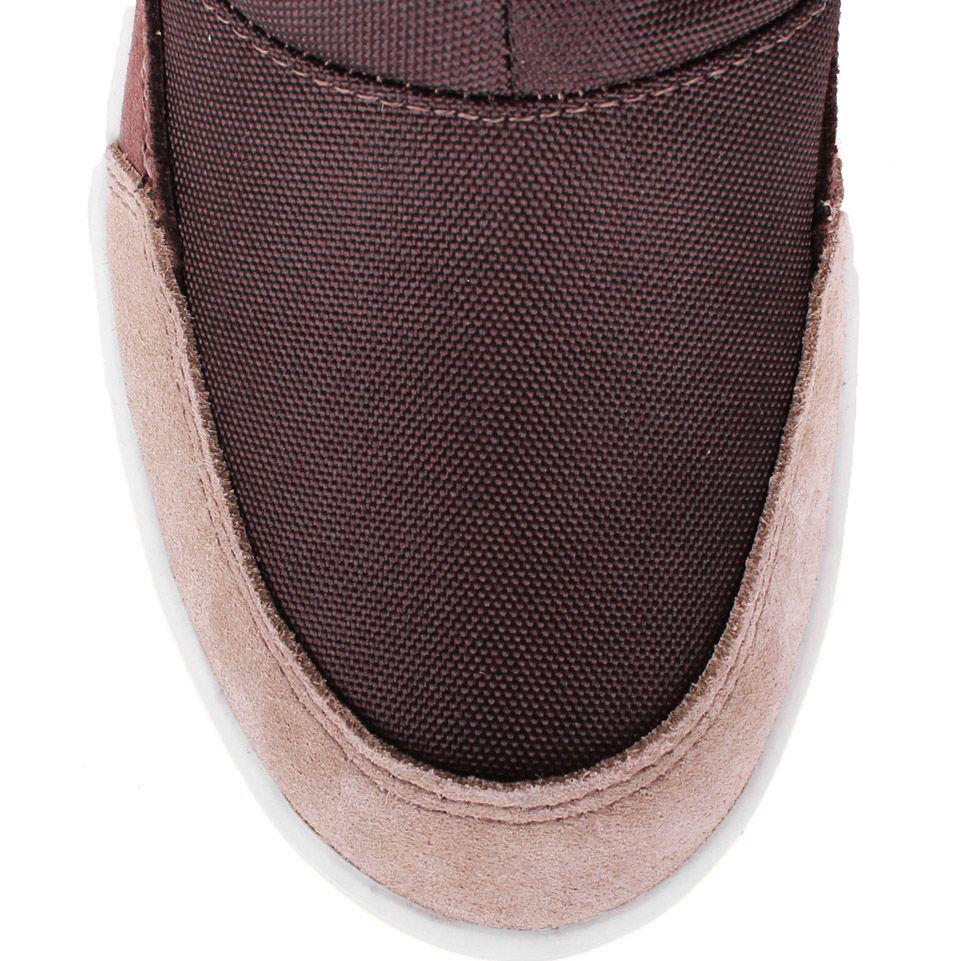 Сапоги-дутики Bressan коричневого цвета с вязаной вставкой на голенище