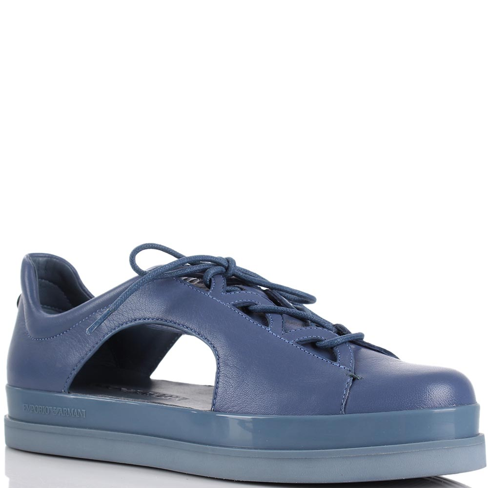 Кеды Emporio Armani синего цвет